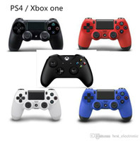 Wholesale One Touch Retail - Wireless Bluetooth Dualshock 4 PlayStation 4 Joystick Gamepad XBox One Controller PS4 game controller with touch pad with retail package