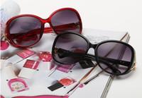 Wholesale Fox Sunglasses - 2017 brand fashion fox sunglasses eyewear female sunglasses shades frog mirror big full frame goggles B650