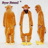 Wholesale Cheap Men Pajamas - HKSNG Cheap DHL Unisex Winter Adult Animal Wild Boar Pig Pajamas Christmas Onesies Cosplay Costumes Homewear For Halloween Party