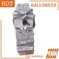wholesale coffin trinket box halloween coffin halloween decorations props haunted house ideas halloween tombstone party yard free shipping uk