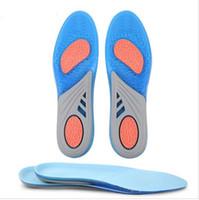 zapatos de las plantillas de la memoria al por mayor-Gel de silicona Plantillas activas Baloncesto Estable Talón Amortiguación Pies Cuidado antifricción Memoria Plantilla Deporte Zapato Pad para hombres mujer KKA2088