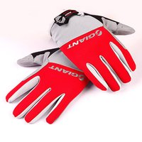 Wholesale Winter Mitts Wholesale - 4 Colors Full Finger Men Cycling Gloves Winter Mitts Mitten Bicycle Bike Riding Motorcycle Driving Cycling Ciclismo Anti-slip Outdoor DHL