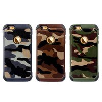 Wholesale Tpu Camouflage Iphone Cases - For iPhone 7 Camouflage Armor Case For iPhone6S Cases Armor Hybrid Hard Plastic TPU Casefor iPhone6S plus Back Cover Case 50 PCS Opp Bag
