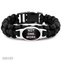 Wholesale Shooting Sports Wholesale - Black Lives Matter This Stops Now Don't Shoot I Can't Breathe Not One More Black Paracord Survival Bracelets Custom