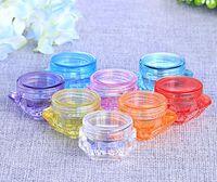 Wholesale Diamond Shaped Bottle - Colorful 3g 5g Cosmetic Container Diamond Shape Eye Cream Jar sample jar Makeup Face Cream Container Bottle cosmetic bottle packaging