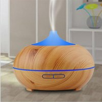 Wholesale Essential Homes - 300ml Aroma Essential Oil Diffuser Wood Grain Ultrasonic Cool Mist Humidifier for Office Home Bedroom Living Room Study Yoga Spa