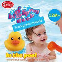 Wholesale Sprinkler Toys - Sprinkler bath toy big yellow duck bath swimming pool bath children toys
