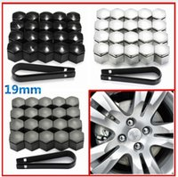 Wholesale 20pcs mm Wheel Nut Cover Bolt Cap Protector For Vauxhall Opel Romove Tool Key
