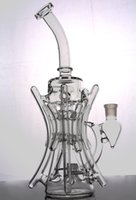 Wholesale hill oil - New recycler glass bong hot bongs roots TORO water pipe boro bong Hill side glass oil rig break dab dabs recycler Killa glass