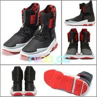 Wholesale Y3 Boots - Kanye West Y-3 NOCI0003 Red White Black High-Top Men Sneakers Waterproof Genuine Leather Luxury Brand Designer Y3 Casual Shoes Boots