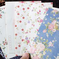 Wholesale Stationery Paper Designs Envelope - Wholesale- Cute Simple Design 17.5*12.5cm China Style Floral Pattern DIY Envelopes Wholesale Stationery Mini Paper Window Envelopes PL
