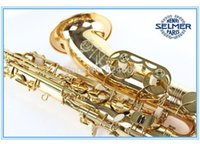 Wholesale bb tenor saxophone - France Henri Tenor Saxophone Misical Instruments Reference Electrophoresis Gold Brass Plated Bb Tenor Saxofone STS