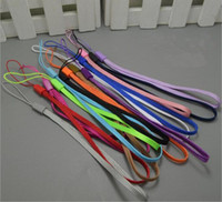 Wholesale Mobile Phone Cord Lanyard - Cell Phone Hang Rope Wrist Hand Mobile Chain Straps Keychain Charm Cords DIY Lariat Lanyard 1000pcs lot