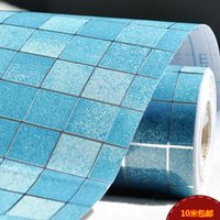 Wholesale Mosaics For Kitchens - Wholesale-Mosaic wall sticker bathroom wall waterproof stickers tile wall decals self adhesive wallpaper kitchen wallpapers for home decor