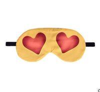 Wholesale cover girl eye - 3D printing Long eyelashes Travel Rest EyeShade Sleeping Eye Mask Cover Girl Eyepatch Blindfolds Goggles Health Care emoji
