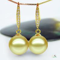 ingrosso grandi orecchini di perle reali-Argento 925 reale naturale grande Il nuovo Tahiti Black Pearl Nanyang Orecchini di perle naturali orecchini di acqua di mare / orecchini genuini