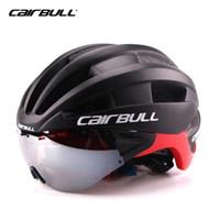 Wholesale Bike Visor - CAIRBULL Triathlon Cycling Helmet Women Men With Sun Visor Ultralight In-mold Road Bike Bicycle Helmet Casco Ciclismo 54-62 CM #168