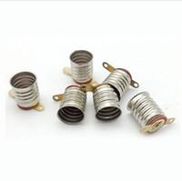 Wholesale Electric Light Sockets - E10 Short Leg Small Lamp Holder   Electric Circuit Experiments light bulb Base Socket x50