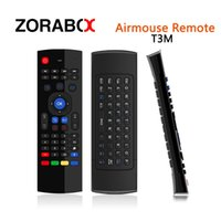 Wholesale Portable Console Android - 10pcs Portable Air Mouse T3M Microphone Suitable For Computer Android Smart Tv Box Set Top Box Media Player Pad Android Stick Game Consoles