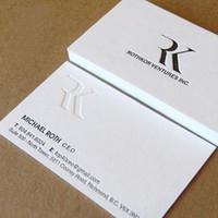 papel de tipografía al por mayor-letterpress 600gsm tarjetas de visita de encargo hoja de oro de plata papel de color grueso borde del envío gratis