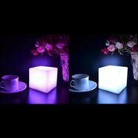 Wholesale Led Gadget Halloween - Mising 7 Colors Romantic Changing Mood Cubes LED Night Light Lamp Glow Gadget Gizmo Light Home Decoration Nightlight