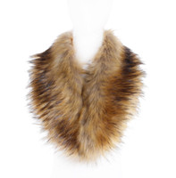 ingrosso scaldino del collo della pelliccia nera-Sciarpa di pelliccia di faux delle donne di 7 colori Inverno caldo Sciarpe di scaldacollo di collo delle donne di bianco naturale nero di collo