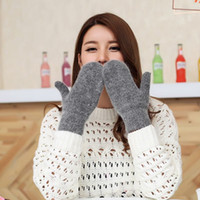 Wholesale Cheap Warm Gloves - 2017 Pure Colors Women Warm Gloves Winter Mittens 7 Colors Simple Design Christmas Gift Cheap Wholesale Gloves