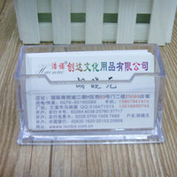 Wholesale Business Card Transparent - Hot Sale Plastic Business Card Holder Transparent Card Display Stand Office Table Large Capacity Business Cards Holder ZC0071