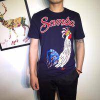 Wholesale Samba Shirts - 2017 Fashion Summer Best Quality DG Samba Short T-shirt Men T Shirt Tops Top Quality Clothes White Blue Color Fast Shipping