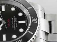 Wholesale Mens Limited Automatic Watch - Limited Edition Noob Factory V7 Mens Automatic Eta 2836 Watch Customized Waterproof Fuck Em Ceramic No Date 114060 Men Dive Sport Watches
