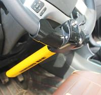 dispositivo antirrobo de alarma de coche al por mayor-2016 Universal T Style Auto Seguridad Bloqueo del volante Alarma del coche Dispositivo antirrobo Extra Seguro con construcción de acero resistente