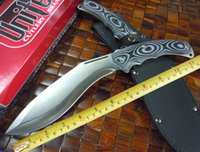 Wholesale 58 hrc - US Army Rangers dogleg knife (military) 7cr17mov blade 58 HRC MICARTA handle