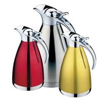 metallschüttlerbecher großhandel-4 Farbe 1L 1.5L 2L Kaffee Thermosbecher Edelstahl Teekanne Isolierflaschen Termos Tassen Garrafa Termica Thermo Warmwasserflasche