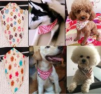 Wholesale bandana male for sale - Group buy 100pcs New arrival Mix Colors Dog Puppy Pet bandana Collar cotton bandanas Pet tie Grooming Products S01