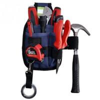 pochettes d'outils électriques achat en gros de-Vente en gros - 3 poches professionnel électricien Tool Tool Utility Pouch travail w / boucle de boucle Sac à outils Conveniet pour votre bon choix