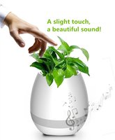 Wholesale Mini Flower Pots Gifts - Music Flower Pot Night Light Smart Touch Planters & Pots Lamp Rechargeable Wireless Bluetooth Planter Best Gift For Family Frends Kids
