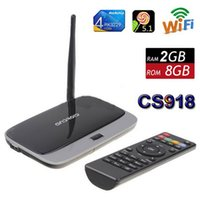 Wholesale Wholesale Smart Tv Antennas - Upgraded CS918 RK3229 2GB 8GB Flash Quad Core CPU Support 4K Smart TV Box WiFi HDMI Android 5.1 Mini PC Wifi Antenna VS MXQ M8S Pro A95X