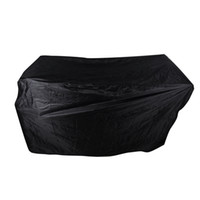 Wholesale heat shield cover - Black Waterproof Bbq Cover Outdoor Rain Barbecue Grill Protector For Shield Gas Charcoal Electric Barbeque Grill Camping