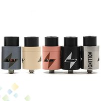 Wholesale Wholesale Ignition - Newest Ignition RDA Clone Rebuildable Atomizers With Wide Bore Drip Tip PEEK Insulator 2 POST 5 Colors fit 510 E Cigarette DHL Free