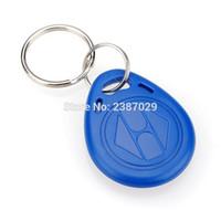 Wholesale Cheap Programs - Wholesale- (100pcs lot) Cheap Price ABS Waterproof Program Passive RFID Tag 125khz Proximity ID Token Key Tag Ring