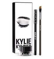 Wholesale Brushes For Gel - Kylie Jenner Cosmetics brithday edition kyliner eyeliner Kit and gel Waterproof eyeliner with Brush makeup Cosmetic liner 3 Colors for cho