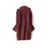 Wholesale Wool Cashmere Coat Sale - Hot Sale Women Double-Faced Cashmere Coat 2017 Winter 100% Wool Loose Long Female Coats High Quality Woolen Outwear