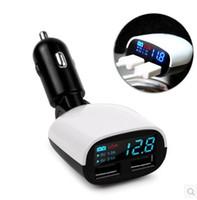 çoklu telefon bağlantı noktası araç şarj cihazı toptan satış-Evrensel Araç LED Dijital USB Araç Şarj çıkışı Çok port USB Güç Adaptörü tüm telefon için ped DHL ücretsiz kargo