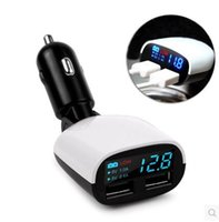 ingrosso multi caricatore dell'automobile della porta del telefono-Uscita universale USB LED caricabatteria da auto USB universale Multi-port USB Power Adapter per tutti i pad del telefono DHL spedizione gratuita