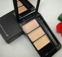 Wholesale Combination C - 6pcs New Arrival Makeup Professional Color Concealer 4.5g! Concealer Cream Professional 3 Color Concealer 3 In 1 Foundation C Free Shipping