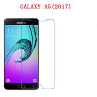 Wholesale Touch Screen Protectors Films - For Samsung Galaxy A3 2017 A3200 A5 2017 A7 2017 9H Tempered Glass phone film Phone Protective Phone film touch screen protector