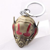 Wholesale Euro Key Chains - Euro-American Movie Ant-Man Mask Key Chain Hot Sale Metal Keychains Wholesale 10pcs lot Size 4.5*5.5cm