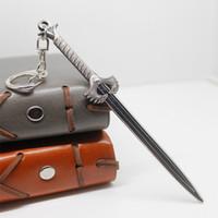 Wholesale Silver Sword Ring - Wonder Woman Sword Keychain Anime Key Chain Moive Key Ring Holder Pendant Key Chain
