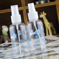Wholesale Small Water Spray Bottles Wholesale - Beauty Tool Small Spray Bottle Transparent Plastic Watering can Spray Bottle Travel Cosmetic Refillable Bottles 75ml F2017523