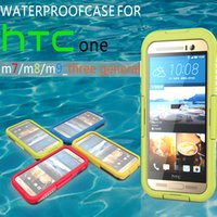 For HTC pack red cell - HTC Waterproof Case Cell Phone Shell snow proof Shock proof dust proof phone back cover for HTC M9 with packing
